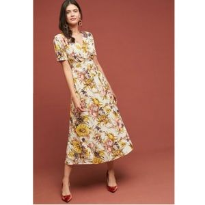 Anthropologie Tiny Brand Sunflower Wrap Dress
